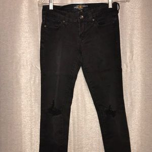 Lucky Brand black Distressed Jeans